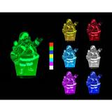 3D LED lampa - Santa Claus