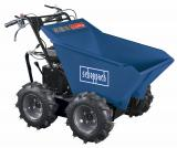 Scheppach DP 3000 -kolový přepravník 4x4 s nosností 300 kg a mechanickým sklápěním korby
