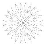 CMT Šablona na ornamenty růžicové vzory ROZETA 85 a 68mm
