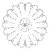 CMT Šablona na ornamenty růžicové vzory Velký španělský vějíř 400mm
