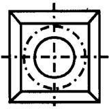 IGM N013 Žiletka tvrdokovová - 17x17x2 D=4 Dřevo+