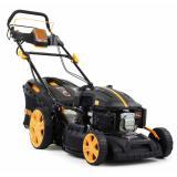 Riwall PRO RPM 4635 E multifunkční travní sekačka 4 v 1 s benzinovým motorem, pojezdem a elektrostartem