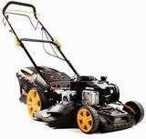 Riwall PRO RPM 4630 B multifunkční travní sekačka 4 v 1 s benzinovým motorem a pojezdem