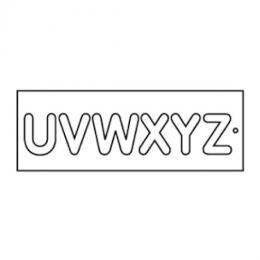 Frézovací šablona na písmena, vel.57mm, U-Z - zvětšit obrázek