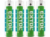 baterie nabíjecí, 4ks, AAA (HR03), 1,2V, 1000mAh, NiMh