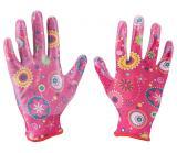 rukavice zahradní nylonové polomáčené v nitrilu, velikost 7
